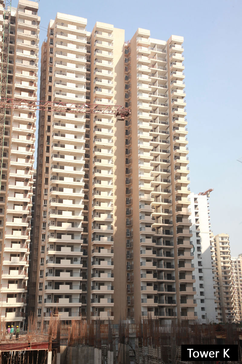 Gaur City 14th Avenue Block K Construction Image