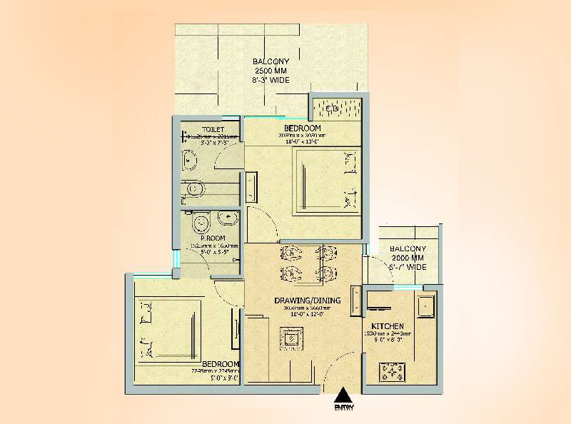Gaur City 14th Avenue Noida Extension Floor Plan