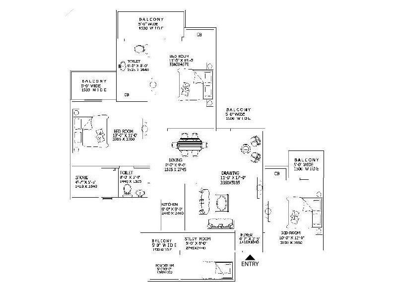 Gaur City 16th Avenue Floor Plan