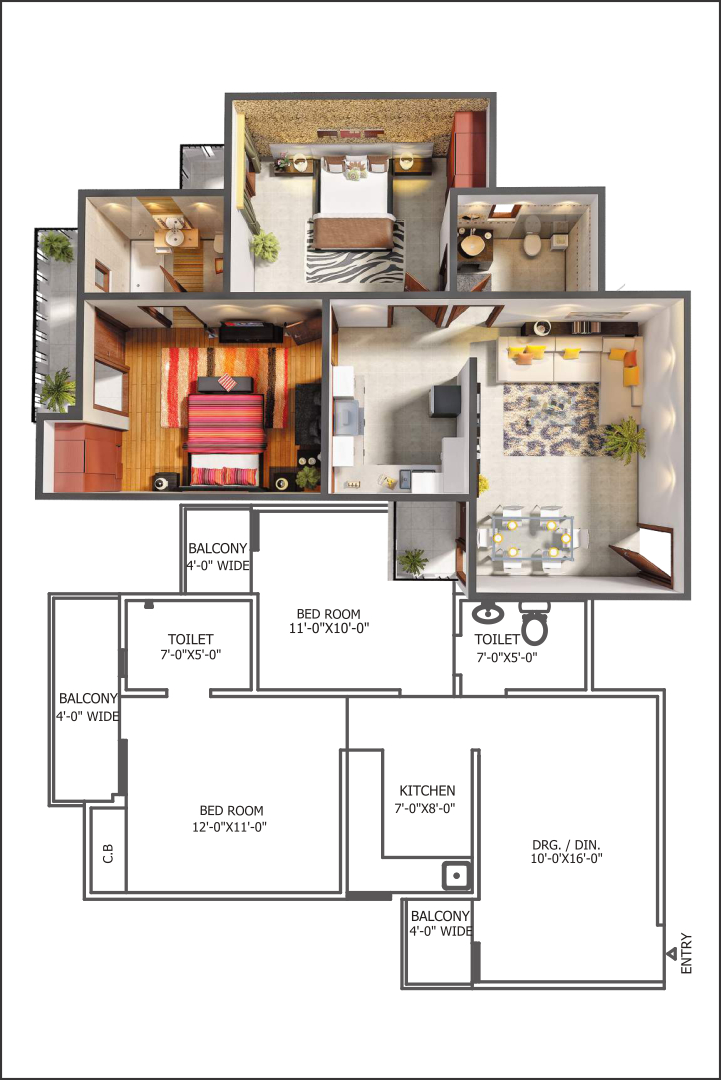 Gaur City 5th Avenue Floor Plan