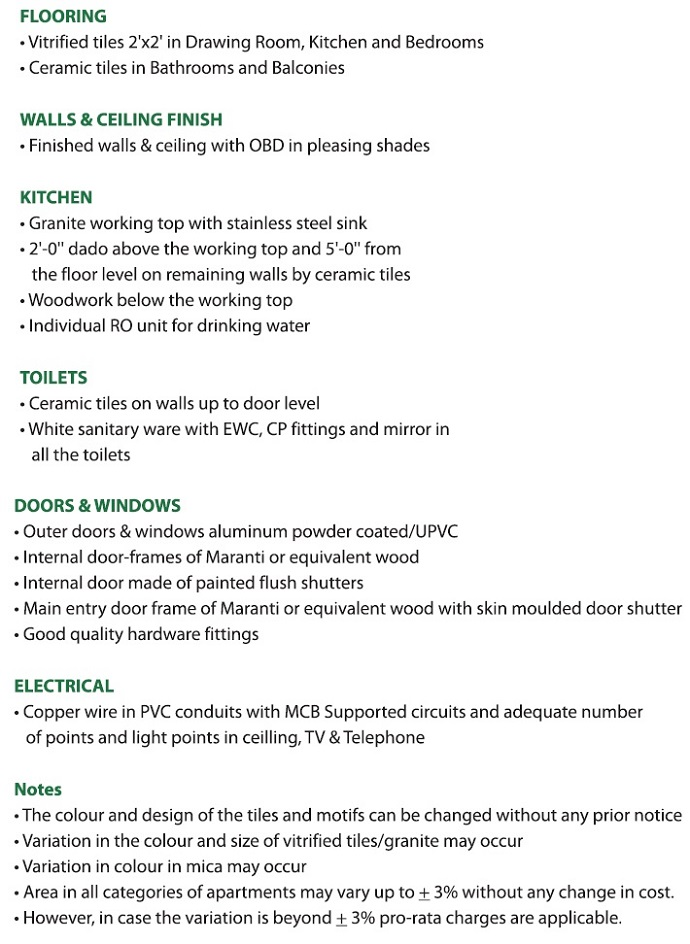 Gaur City 7th Avenue Specification